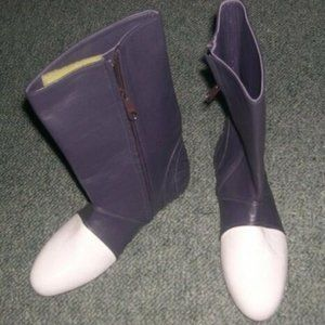 purple white FEDERATION NZ boots 39 leather